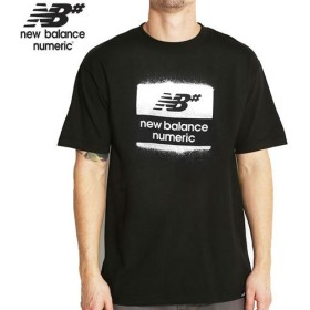 NEW BALANCE NUMERIC ニューバランス ナメリック Tシャツ OVERSPRAY TEEブラック NO5 Mサイズ