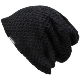 [ビッグワッチ] 帽子 大きいサイズ メッシュ リバーシブル ニットキャップ ブラック DM-10 メンズ L XL