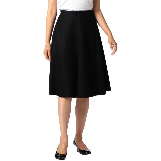(ノーリーズ) NOLLEY'S 圧縮天竺インゴムフレアスカート 7-0242-5-06-008 36 ブラック