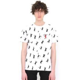 (グラニフ) graniph 総柄 Tシャツ (ダンスウィズスリルパターン) (ホワイト) メンズ レディース M (g01) (g14)
