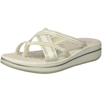 [スケッチャーズ] Women's Upgrades-Dazzle Time White Ankle-High Fabric Sandal - 5M