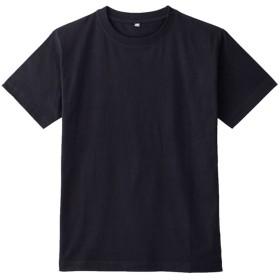 Tシャツ レディース 無地 半袖 インド綿 おしゃれ インド綿 半袖Tシャツ S-3L 全11色(3L ブラック)