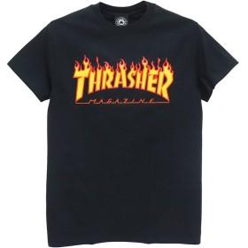 THRASHER T-SHIRT スラッシャー Tシャツ FLAME(US規格) スケートボード スケボー SKATEBOARD 黒,XL