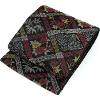 きもの京小町 袋帯 お仕立て上がり 女性 留袖 訪問着 色無地 古典柄 黒 格子 華紋