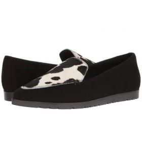 Shellys London(シェリーズロンドン) レディース 女性用 シューズ 靴 ローファー ボートシューズ Korie - Black Leather 38 (US Women's 7.5) M [並行輸入品]