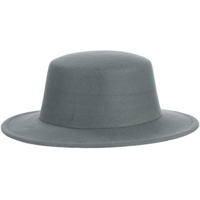 GEMVIE メンズ ボーラーハット フォーマル 紳士帽 帽子 ハット つば広 アウトドア 無地 お出かけ 旅行 おしゃれ 秋冬 グレー