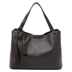 TORY BURCH THEA CENTER-ZIP TOTE BLACK [並行輸入品]