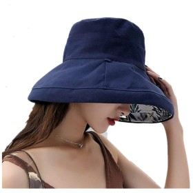 Pruvansay UVカット 帽子 レディース ハット日焼け防止 紫外線対策 熱中症予防 遮光帽子 取り外すあご紐 サイズ調節可 折りたたみ 持ち運び つば広 おしゃれ 夏季 女優帽