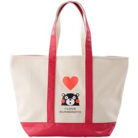 かわいいくまモンのキャンバストートバッグ (レッド)