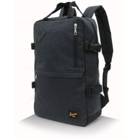 [ジーニズム エドウィン] リュック 多機能 ポケット PC収納 ボックス型 スクエア ブラック Free