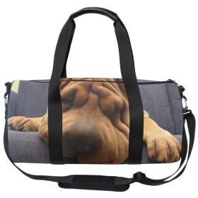 化粧ポーチ 機能的 大容量 オシャレ 祝い プレゼント ギフトシャーペイ犬の顔のしわ