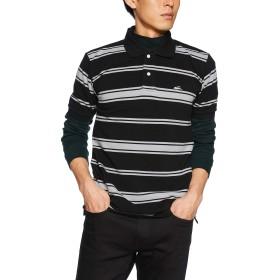 (クリフメイヤー) KRIFF MAYER マルチボーダー ポロシャツ メンズ 半袖 カジュアル クールビズ 鹿の子 1845120 XL ブラック