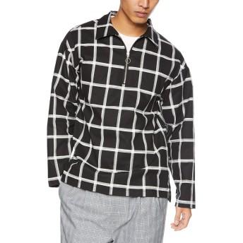 corisco(コリスコ) メンズ ポリハーフ ジップシャツ L チェック