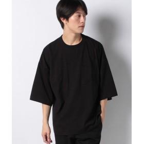 【20%OFF】 ウィゴー WEGO/ステッチポケットビッグ5分袖Tシャツ メンズ ブラック S 【WEGO】 【セール開催中】