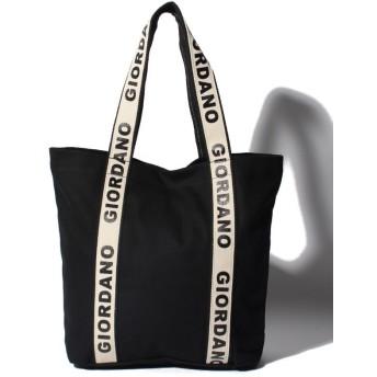 【49%OFF】 ジョルダーノ [GIORDANO]ロゴトートバッグ レディース ブラック F 【GIORDANO】 【セール開催中】
