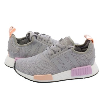 [アディダス] NMD_R1 W LIGHT GRANITE/LIGHT GRANITE/CLEAR ORANGE 25.0cm