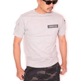 (アビレックス) AVIREX ファティーグ 半袖 Tシャツ クルーネック ポケット ミリタリー 6123036 グレー S