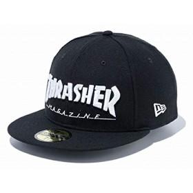 ニューエラ 59FIFTY THRASHER MAGAZINE ロゴ ブラック/ホワイト 11775389 スラッシャー マガジン black/white 7-3/4(61.5cm) 1