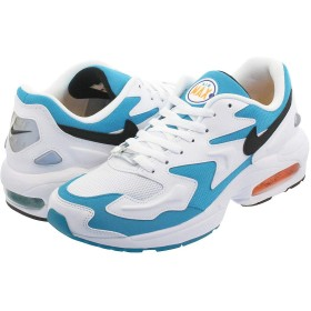 [ナイキ] AIR MAX 2 LIGHT WHITE/BLACK/BLUE LAGOON/LASER ORANGE US9-27.0cm [並行輸入品]
