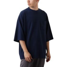 [REPIDO (リピード)] Goodwear スーパービッグ Tシャツ 半袖 無地 クルーネック メンズ カットソー トップス ネイビー XLサイズ