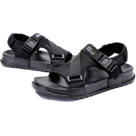 [AOZUO] サンダル ファッション メンズ 歩きやすい 厚底サンダル ファッション サンダル オープントゥ アウトドア 黒靴 通気 ベルクロ コンフォート 通気性ブラック26