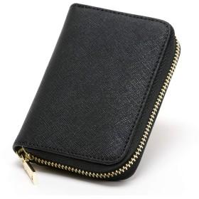 [rimo stile] カードケース レディース じゃばら スキミング防止 大容量 かわいい シンプル (ブラック)