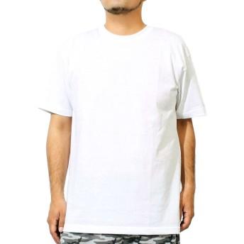 Tシャツ メンズ 大きいサイズ 半袖 クルーネック オープンエンド マックスウェイト 無地 カットソー 5XL ホワイト