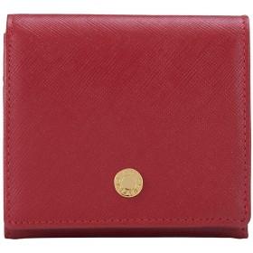 (ル・プレリー)le prairies 二つ折り財布 NPL1280 ビジュー 【11】レッド