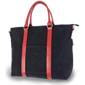 日乃本帆布 トートバッグ [ ブラック / 約32×41×11.5cm ] 帆布2WAYトート No,103M バッグ 鞄 (肩かけ用肩紐付き)