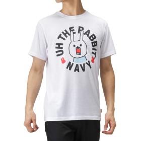 ウサギのウー×NAVY コラボプリントTシャツ 半袖Tシャツ クルーネック プリントTシャツ 93291801 メンズ ホワイト:L