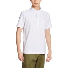 [プリントスター]半袖 5.3オンス TC 鹿の子 スタンダード ボタンダウン ポロシャツ [ポケット付] 00225-SBP 001 ホワイト Lサイズ [メンズ]