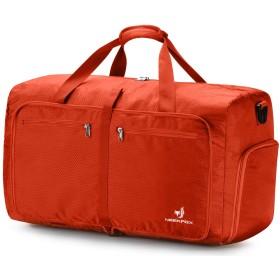 NEEKFOX 折りたたみ 旅行バッグ トラベルバッグ 折りたたみバッグ 大容量 軽量 防水 コンパクト 旅行 出張 整理用 60L (06.オレンジ)