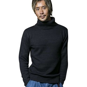 (アドミックス アトリエサブメン) ADMIX ATELIER SAB MEN メンズ ニット セーター ワイド鹿ノ子編み ボトルネックセーター 02-53-6861 50(L) 杢ネイビー(40)