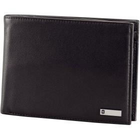 VictorinoxメンズAltius 3.0Innsbruck Leather Deluxe二つ折りオーガナイザーwith European IDウィンドウとコインポケット カラー: ブラック