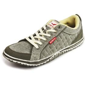 (ワイルドネイチャー) WILD NATURE カジュアル スニーカー シューズ キルティング スポーツ チェック メンズ 靴 男性用 26cm Gray グレー