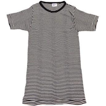 BORDER SHORT SLEEVE TEE(ボーダー半袖Tシャツ) (Mサイズ, (D)ホワイトXブラック(リブ:ブラック))