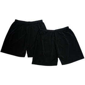 Schlegel マイクロ ミニ パンツ 2枚組 レディース 黒 インナーパンツ やや長めの 1分丈 レギンス オーバーパンツ スカート 下 制服 スクール などにも (ブラック1)