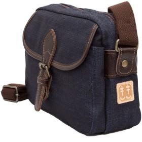 [クレアーレきき]ショルダーバッグ メンズ 岡山デニム 革付属 京都 旅行[散歩バッグ] 日本製 Dom-003