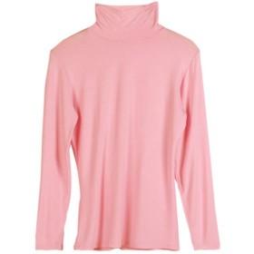 【ACE FACTORY】レディース トップス 長袖 タートルネック おしゃれ 可愛い スリム インナー エコバッグ付き ピンク02 フリーサイズ
