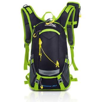 サイクルバッグ リュックサック 登山用 かばん 超軽量 防水 自転車 旅行用 バックパック アウトドアバッグ 容量リュック ヘルメット収納ネット付き (グリーン)