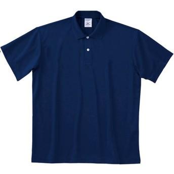 MIZUNO(ミズノ) 半袖 ポロシャツ 無地 スポーツウェア メンズ XSサイズ ネイビー 87wp300-XS-14