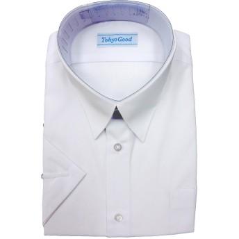 スクール Yシャツ 男子 学生 ワイシャツ A体 B体 長袖 半袖 形態安定 抗菌 防臭 (190A, 半袖)