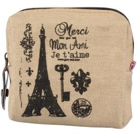Tonsee レトロ コインケース 帆布製 ウォレット 小銭入れ 可愛い 多機能 ミニ財布 軽量