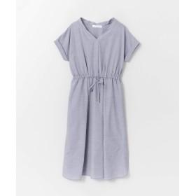 [アーバンリサーチ] ワンピース ドレス エアリーソフトフレンチスリーブワンピース レディース BLUE FREE
