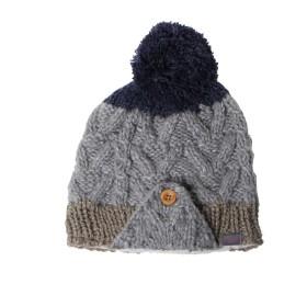 [フェニックス] ニット帽 ラウンド イヤーフラップ ビーニー PH768HW69 GR F