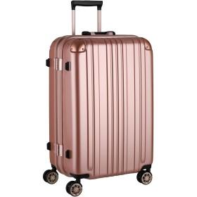 [レジェンドウォーカー]スーツケース キャリー アルミフレーム TSAロック Mサイズ(68リットル)5~7泊 ローズゴールド