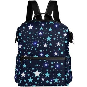 VAWA リュック 大容量 おしゃれ 星空 星柄 スター リュックサック 高校生 防水 多機能バッグ バックパック 通勤 通学 旅行用