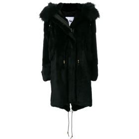 Furs66 ファー フーデッドコート - ブラック