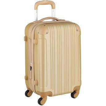 スーツケース キャリーケース キャリーバッグ 安心1年保証 機内持ち込み 可 ファスナー 傷が目立ちにくい SS サイズ 1日 2日 3日 TSAロック ハードキャリー 拡張 ジッパー 女子旅 全サイズ 有り 5082-48 シャンパンゴールド