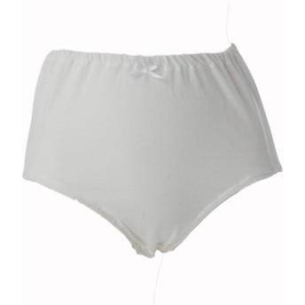 綿100% ショーツ 肌に優しい 生地 厚み UP ノンレース インゴム タイプ 深履き レディース 下着 日本製 綿 L オフホワイト 通気性のよい 綿100 マルキ